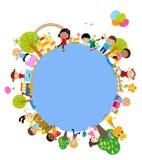 Group of kids frame. Illustration of group of kids frame Stock Image