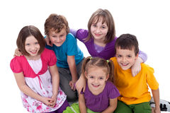 Group of kids - friends forever royalty free stock images