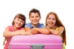 Group on kids go to vacation Royalty Free Stock Image