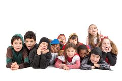 Kids in costumes Royalty Free Stock Photos