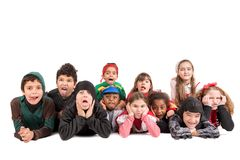Kids in costumes Royalty Free Stock Photography