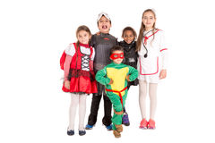 Kids in costumes Royalty Free Stock Image