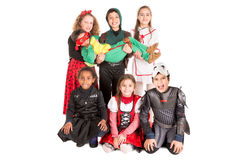 Kids in costumes Stock Photos