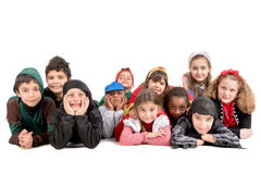 Kids in costumes Stock Photography