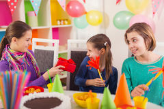 Group of kids having fun at birthday party Stock Photography