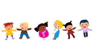 Group of kids having fun. Cartoon Stock Photos