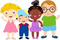 Group of kids having fun. Cartoon Stock Images