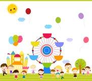 Group of kids having fun. Illustration Stock Photography