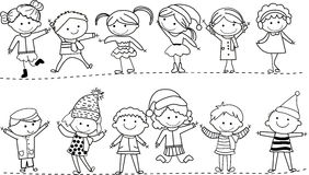 Group of kids. Illustration of group of kids Royalty Free Stock Photography