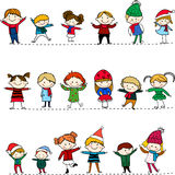 Group of kids. Illustration of group of kids Royalty Free Stock Photo