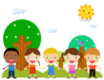 Group of kids Royalty Free Stock Images