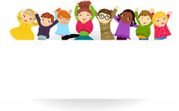 Group of kids. Illustration of group of kids Royalty Free Stock Image