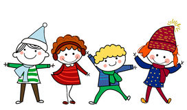 Group of kids. Illustration of cute group of kids Royalty Free Stock Photos