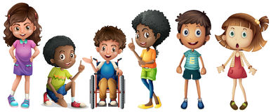 A group of kids Stock Images