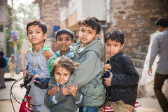 Group of kids, India Stock Image
