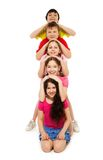 Fiver kids in a row Royalty Free Stock Photography