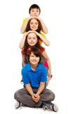 Kids together in a row Royalty Free Stock Image