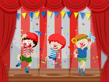 A Group of Kids Performance on Stage. Illustration vector illustration