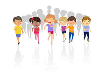 Group of kids running Royalty Free Stock Photography
