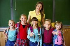 Kids at school royalty free stock photos