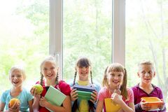 Kids at school stock photos