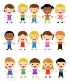 Group of kids set Stock Image