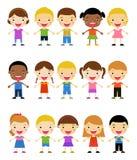 Group of kids set Stock Image