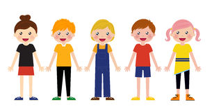 Group of kids set Stock Photo