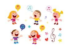 Group of kids singing royalty free stock photos