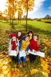 Group of kids sketching Stock Photo