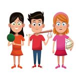 Group kids sport active. Vector illustration eps 10 Royalty Free Stock Image