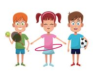 Group kids sport active. Vector illustration eps 10 Stock Photography