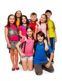 Group of schoolchildren Stock Photos