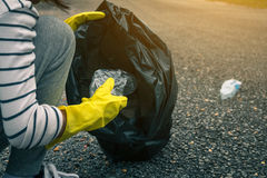 Group of kids volunteer help garbage collection charity environm. Ent royalty free stock photos