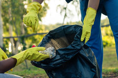 Group of kids volunteer help garbage collection charity environm Royalty Free Stock Photography