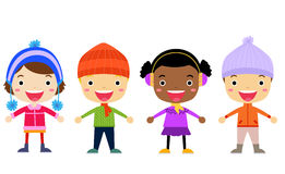 Group of kids - winter Stock Image