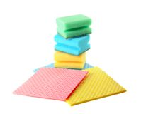 Group of kitchen sponges Royalty Free Stock Photo