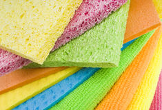 Group of kitchen sponges Royalty Free Stock Photography