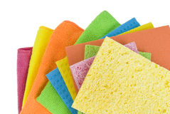 Group of kitchen sponges Royalty Free Stock Image