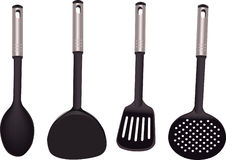 Group of kitchen utensil on white Stock Image