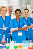 Group Lab Technicians Stock Photos