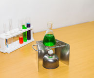Group of laboratory on background. Stock Photography