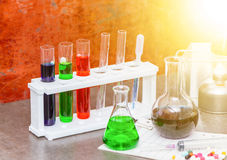 Group of laboratory. Royalty Free Stock Images