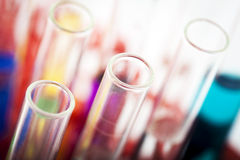 Group of laboratory test tubes Stock Photos