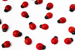 A group of ladybirds. Group of ladybirds made of wood Stock Image