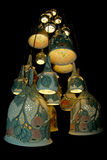Group of lamps on the black background Royalty Free Stock Photography