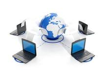 Group laptop, transferri Royalty Free Stock Image