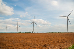 Group Large wind turbines Royalty Free Stock Photography