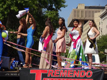 Group of Latina Beauty Queens Stock Image