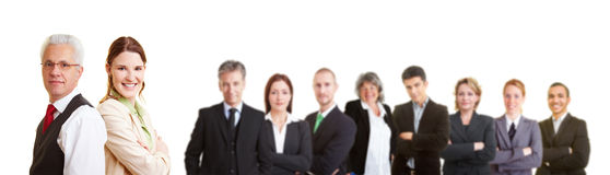 Group of lawyers in a team Stock Image
